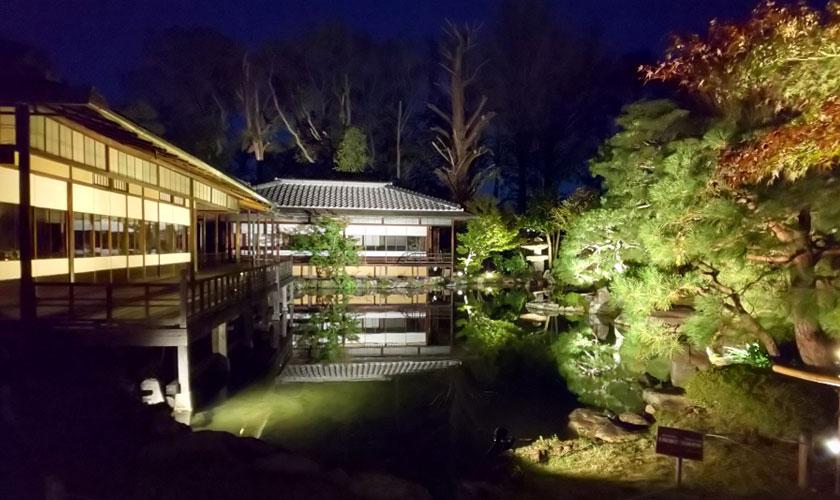 「光で彩る秋の渉成園」―夜間参観ライトアップ―